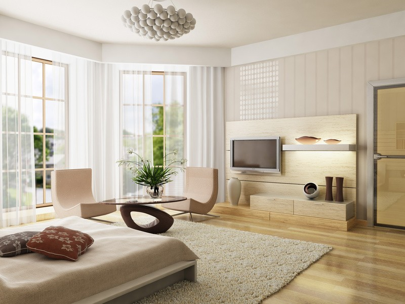 Wohnzimmer mit moderner Raumausstattung © fotolia / auris